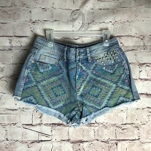 Aeropostale High Rise shortie denim shorts